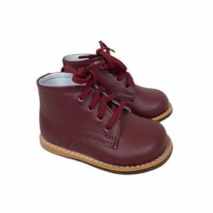 Josmo Walker Burgundy Leather Boots size 2.5